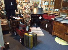 View of Oak Antique Slant Top Desk.