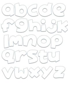 Graffiti Lettering Alphabet, Hand Lettering Fonts, Cool Lettering, Lettering Styles, Alphabet Design, Alphabet Templates, Bubble Letter Fonts, Printable Letters, Bullet Journal Ideas Pages