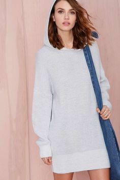So Far So Hood Knit Tunic | Shop What's New at Nasty Gal