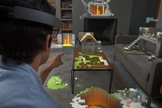 """At its core, HoloLens is an augmented reality headset running on Windows 10 that projects """"holograms"""" only the user can see. Windows 10, Google Glass, Microsoft Windows, Apps, Virtual World, Virtual Reality, Xbox One, Surface Book, Head Up Display"""