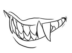 how his canines look; these types of vamps have extremely long canine fangs and can inject poison into their victims