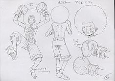 Afro Luffy, Long Ring Long Island / Land, Davy Back. Monkey D. Luffy Sheet, Character Design, Official Reference, Settei