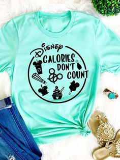 Disney Calories dont count shirt Disney Snackgoals Shirt Disney shirt Disney women shirt Disney Vacation Tshirt I like my Food Mickey shape - Playeras - Cute Disney Outfits, Disney Fun, Disney Style, Disney Clothes, Cute Disney Shirts, Disney Christmas Shirts, Disney Ideas, Emo Outfits, Halloween At Disney World