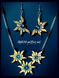 Quilling necklace set 18