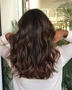 Top 100 hair color trends for 2019 brunette page 52 Ombre Hair Color, Brown Hair Colors, Cool Hair Color, Brunette Shoulder Length Hair, Best Brunette Hair Color, Medium Brunette Hair, Hair Colour, Blonde Hair, Medium Hair Styles