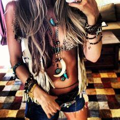 Hippie style.