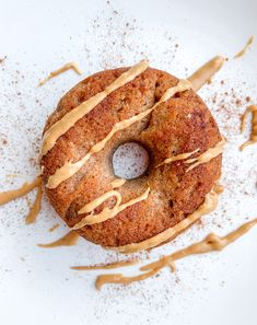 Best ever healthy paleo cinnamon banana donuts that are fluffy, gluten-free, and naturally sweetened with maple syrup! Healthy snack, breakfast, or dessert.