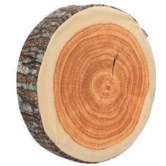 Green Log Neck Wooden Pillow Decorative Wood Columns Travel Pillows 39*7cm Mason@