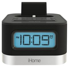 iHome iPL8BN Stereo FM Clock Radio with Lightning Dock iPhone 5/5S 6/6 Plus New #iHome