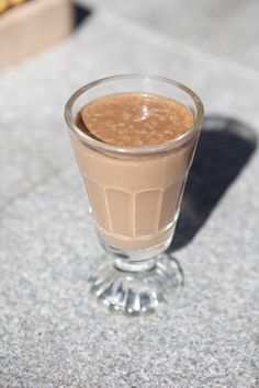Banana, cacao and almond smoothie #TheArtofEatingWell