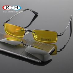 39b6db5a959 Glasses Women Frames Eyeglasses Men Eyewear Frame 2PCS Magnetic Polarized  Sunglasses Clip on Goggles Yellow Night
