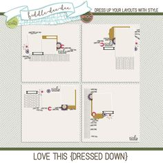Love This {Dressed Down} ~ January 2016 BYOC Reach for Love This {Dressed Down} templates for the especially favorite photographs that you have to gush about! This personal use/S4H template set includes four (4) layered 12x12 templates in both .psd and .tif files all a...