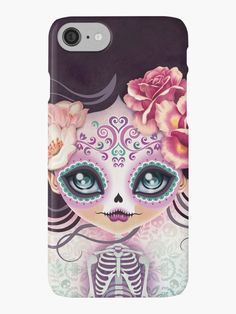 "♥ This piece was featured on the RedBubble homepage on October 19, 2014 – ""Found by RB"". / Translation: Camila Bonies / Dia de los Muertos (""Day of the Dead"") is a holiday celebration which is held from October 31 to November 2, not only observed throughout Mexico but also in other cultures around the world, including most Latin American countries. This popular tradition is all about the boundaries between life and death, and how peo..."