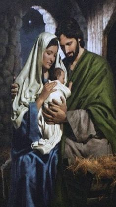 Mary and Joseph with the baby Jesus - the Holy Family Pictures Of Christ, Religious Pictures, Baby Jesus Pictures, Holy Family Pictures, Images Of Christ, Family Images, Art Pictures, Blessed Mother Mary, Blessed Virgin Mary