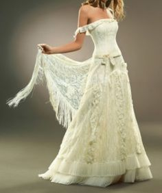 Hippie Wedding Dresses - with sleeves and higher neckline!
