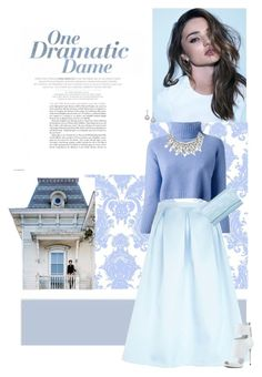 """Whimsical Blue"" by toomuchfun ❤ liked on Polyvore featuring Seed Design, Kerr®, Damsel in a Dress, The Row, River Island, Status Anxiety, Matthew Williamson, Ek Thongprasert and Giuseppe Zanotti"