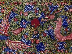 Hand-written Shawl Batik Lasem Bangbiron Phoenix Dragon by Sigit Witjaksono the maestro. Private collection of Arief Laksono.
