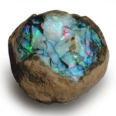 mineralists: Opal nodule Ethiopia oh what Opal does to me…. mineralists: Opal nodule Ethiopia oh what Opal does to me…. Minerals And Gemstones, Rocks And Minerals, Raw Gemstones, Mineral Stone, Opal Mineral, Rock Collection, Beautiful Rocks, Rocks And Gems, Stones And Crystals
