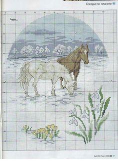 Bordo punto cruz 3(39) 2008 - nicla de benedictis - Picasa Web Albums---PAGE 3 OF 3---TWO HORSES IN THE SNOW
