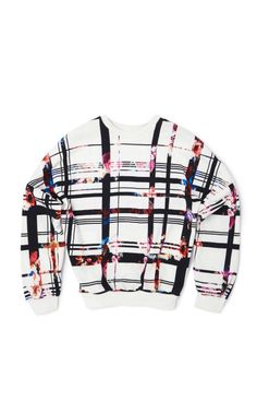 Floral Check Sweatshirt by MSGM