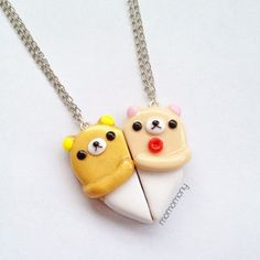 Super Cute Rilakkuma and Korilakkuma Friendship Necklace