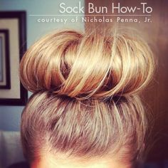 Easy Summer Hair - How-To Style a Perfect Sock Bun | we heart this | we heart this