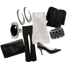 Sequin and black outfit (Plus Size)