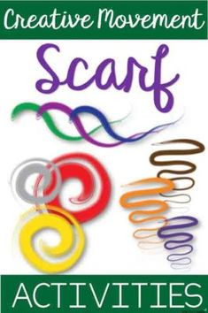 8 creative movement scarf activities Interactive music and movement education materials. Preschool Music Activities, Music Education Activities, Physical Education, Health Education, Drama Activities, Physical Activities, Kindergarten Music, Character Education, Motor Activities