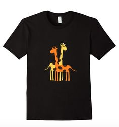 Super fun giraffes graphic tee! Available for sale on Amazon!!: https://www.amazon.com/dp/B01B76GD4C Available in Women's, Men's & Youth Sizes