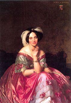 Autre portrait d'Ingres, Mme de Rotshchild Victoria et Elizabeth