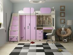 Tips, tricks, plus manual with respect to obtaining the most ideal result as well as attaining the maximum use of bunk bed ideas Bedroom Bed Design, Home Room Design, Girl Bedroom Designs, Kids Room Design, Cute Bedroom Ideas, Room Ideas Bedroom, Small Room Bedroom, Bedroom Decor, Bed Ideas