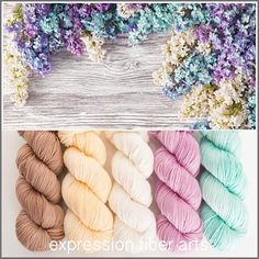 LILAC HUES DEWY DK KIT by expression fiber arts - soft springy beauties!