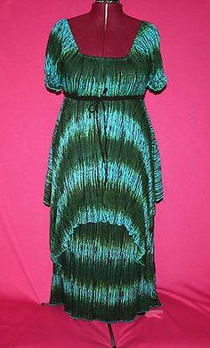 Lotustrader Peasant Empire Maxi Boho Convertible Dress Size L 2X | eBay