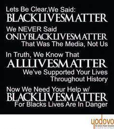Black lives matter, because now they need some help… #Black Lives Matter