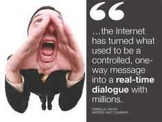 Today's Marketing Quote: The internet has turned what used to be controlled, one-way message into a real-time dialogue with millions. Inbound Marketing, Internet Marketing, Online Marketing, Digital Marketing, Marketing Quotes, Marketing And Advertising, Business Marketing, Geek Quotes, Funny Quotes