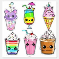 365 Kawaii, Kawaii Love, Kawaii Disney, Arte Do Kawaii, Kawaii Art, Cute Food Drawings, Cute Animal Drawings Kawaii, Cute Little Drawings, Cute Cartoon Drawings