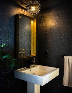 sunset magazine idea house dark metallic bathroom