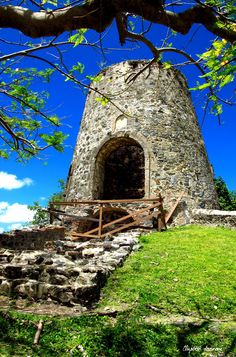 Annaberg sugar mill ruins, Virgin Islands National Park, St. John, US Virgin Island.