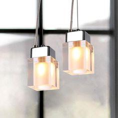 Crystal Cube Pendant Lights