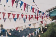 americana backyard wedding decor | via: rock n roll bride