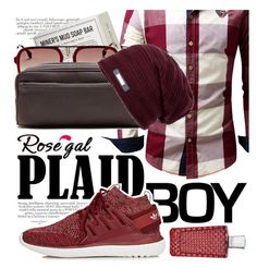 """Plaid Shirt by Rosegal.com"" by cultofsharon ❤ liked on Polyvore featuring Prospector Co., Carrera, Banana Republic, adidas, The Merchant Of Venice, men's fashion and menswear"