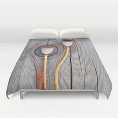 Congruence(2). Duvet Cover by Mary Berg - $99.00 #duvetcovers #society6 #textile #homedesign #bedroom #wood #poppy #purple