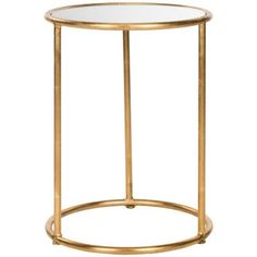 A stylish addition to your living room or parlor, this lovely accent table showcases a gold finish and mirrored glass top. Gold Accent Table, Mirrored Accent Table, Accent Tables, Table Tambour, Teak, Glass Top End Tables, Drum Table, Drum Chair, Table 19