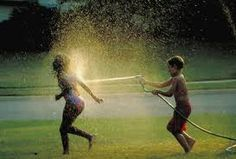 Favorite back yard activity with my brother growing up!