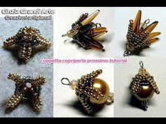 DIY - Coppetta copriperla - Bead Cup by Cinzia Grandi CreazioniBirth stone beaded beads with a herringbone twist Free Beading Tutorials, Beading Patterns Free, Jewelry Making Tutorials, Jewelry Patterns, Beaded Earrings, Seed Bead Earrings, Beaded Jewelry, Beaded Bead, Make Paper Beads