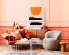 Living Coral, 2019 Pantone Color of the Year Coral Pantone, Pantone Color, Coral Living Rooms, Real Living Magazine, Coral Home Decor, Palette, Color Of The Year, Modern Interior Design, Color Trends