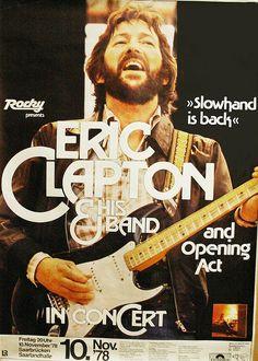 Eric Clapton Concert Poster-1978