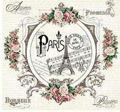 Paris, sheet music, roses.