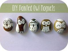 Make Painted Owl Magnets via Plaid Online