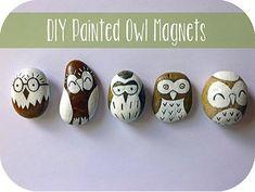 Make Painted Owl Magnets via Plaid Online